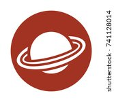 planet icon saturn | Shutterstock .eps vector #741128014