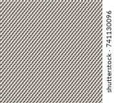 monochrome twill fabric pattern.... | Shutterstock .eps vector #741130096