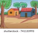 village house | Shutterstock .eps vector #741133993