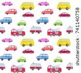automotive seamless pattern... | Shutterstock . vector #741140758