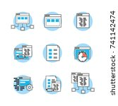 set webside code programmer... | Shutterstock .eps vector #741142474