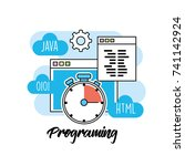 technology information... | Shutterstock .eps vector #741142924