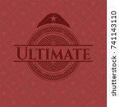 ultimate red emblem | Shutterstock .eps vector #741143110