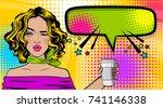 beautiful sexy girl blonde hair ...   Shutterstock . vector #741146338