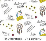 abstract print and pattern | Shutterstock .eps vector #741154840