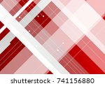 hi tech red and white corporate ... | Shutterstock .eps vector #741156880