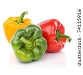 Three Fresh Sweet Pepper...