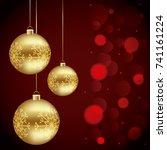 merry christmas design | Shutterstock .eps vector #741161224