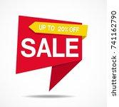 label sale sticker of modern... | Shutterstock .eps vector #741162790