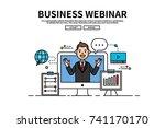 flat line vector editable... | Shutterstock .eps vector #741170170