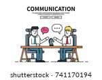 flat line vector editable... | Shutterstock .eps vector #741170194