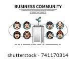 flat line vector editable...   Shutterstock .eps vector #741170314