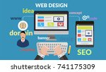 web design concept for your...   Shutterstock .eps vector #741175309