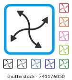 swirl arrows icon. flat gray...
