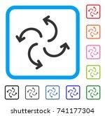 cyclone arrows icon. flat grey... | Shutterstock .eps vector #741177304