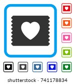 heart condom pack icon. flat... | Shutterstock .eps vector #741178834