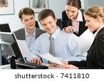 business team are discussing an ... | Shutterstock . vector #7411810