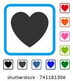 love heart icon. flat grey...   Shutterstock .eps vector #741181306