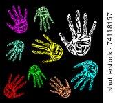 hand print vector | Shutterstock .eps vector #74118157