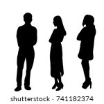 isolated silhouette people... | Shutterstock . vector #741182374