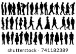 silhouette people collection ... | Shutterstock . vector #741182389