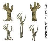 set of lifelike depicted... | Shutterstock .eps vector #741191860