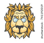 lion with sunglasses. vector... | Shutterstock .eps vector #741192019