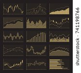business data financial charts. ... | Shutterstock .eps vector #741198766