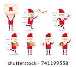 set of santa claus characters... | Shutterstock .eps vector #741199558