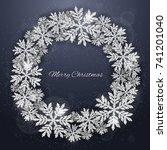 christmas and new year dark... | Shutterstock .eps vector #741201040