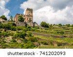 gutenfels  caub  castle and... | Shutterstock . vector #741202093