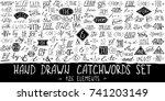 catchwords and ampersands big... | Shutterstock .eps vector #741203149