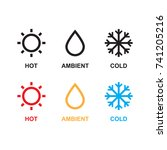 set of weather. hot  ambient ... | Shutterstock .eps vector #741205216
