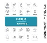 line icons set. business 2... | Shutterstock .eps vector #741207568