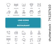 line icons set. restaurant pack....