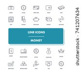 line icons set. money pack....