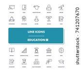 line icons set. education 1...