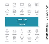 line icons set. office pack....