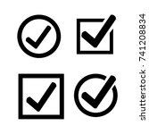 tick check mark icon | Shutterstock .eps vector #741208834