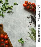 Vegetables Background With Ope...