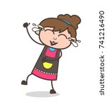 laughing face with tears of joy ... | Shutterstock .eps vector #741216490