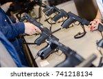 gun display stands | Shutterstock . vector #741218134