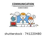 flat line vector editable... | Shutterstock .eps vector #741220480