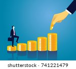 vector illustration. business... | Shutterstock .eps vector #741221479