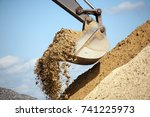 construction machinery at the...   Shutterstock . vector #741225973