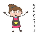 laughing in excitement  ...   Shutterstock .eps vector #741226639