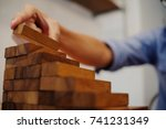 planning risk and strategy in...   Shutterstock . vector #741231349