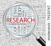 research. magnifying glass over ...   Shutterstock .eps vector #74123767