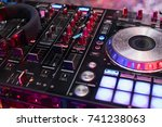 dj is rhythm music with... | Shutterstock . vector #741238063