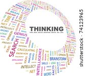 thinking. word collage on white ...   Shutterstock .eps vector #74123965